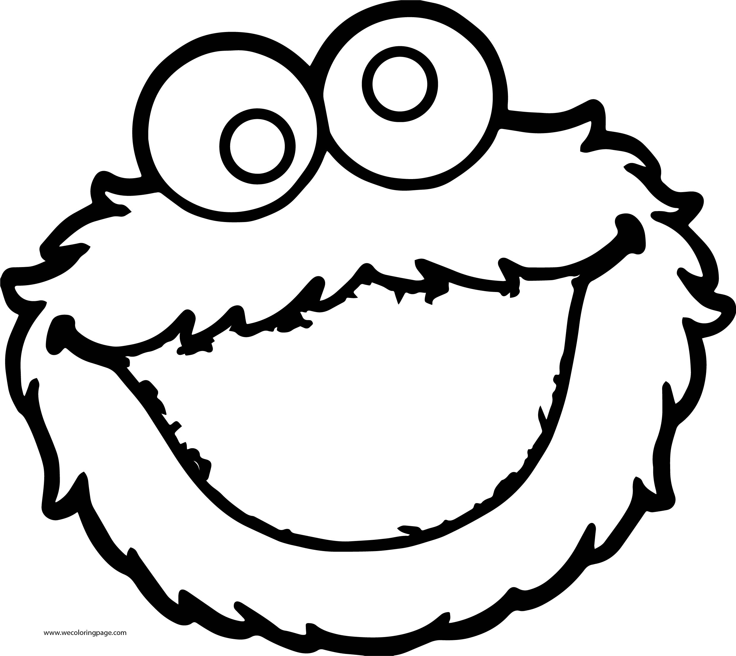 Most Popular Sesame Street Characters Cookie Monster Sesame Street Coloring Page