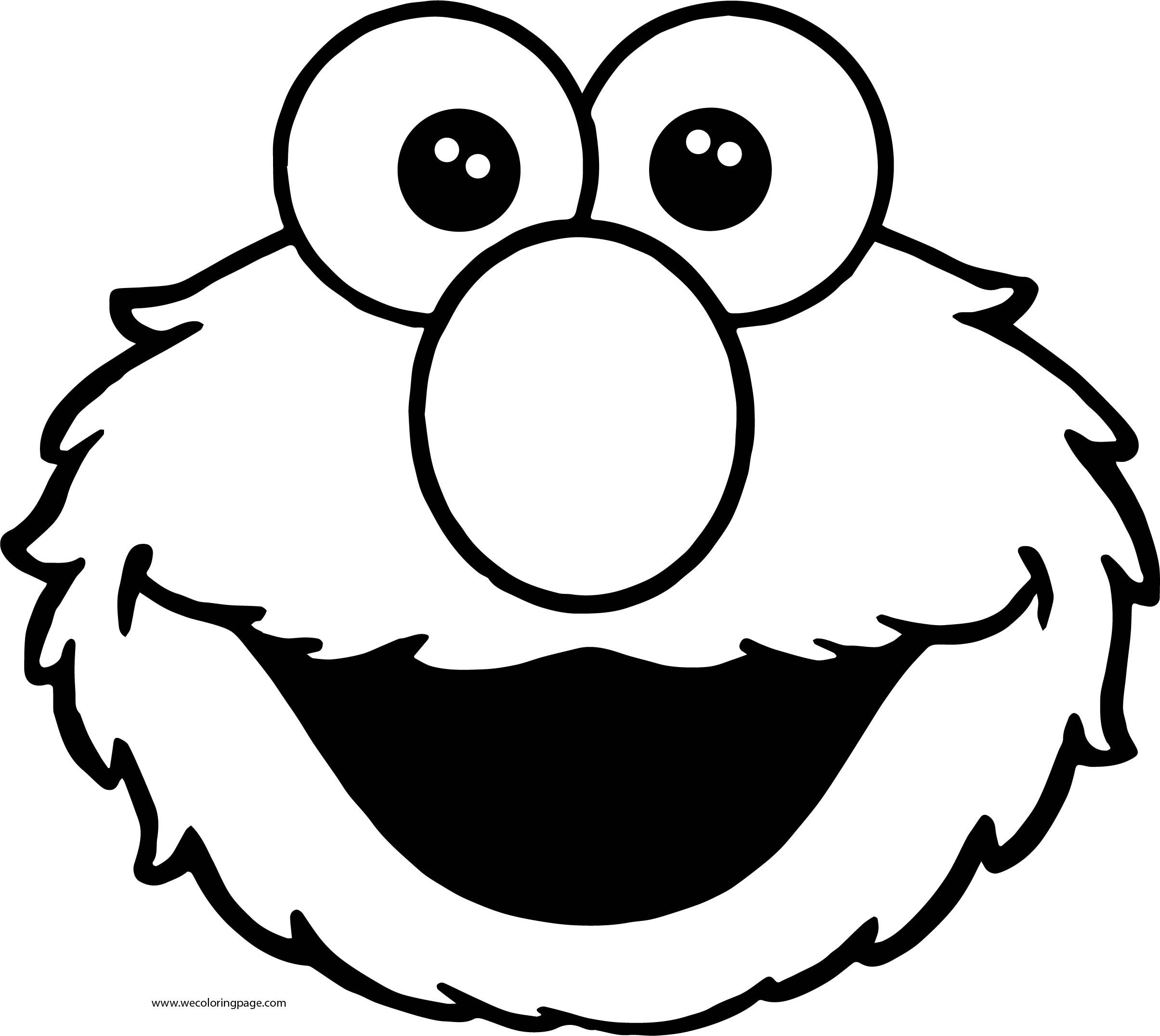 Most Popular Sesame Street Characters Elmo Sesame Street Coloring Page