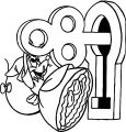 Mouse Key Hole Coloring Pages