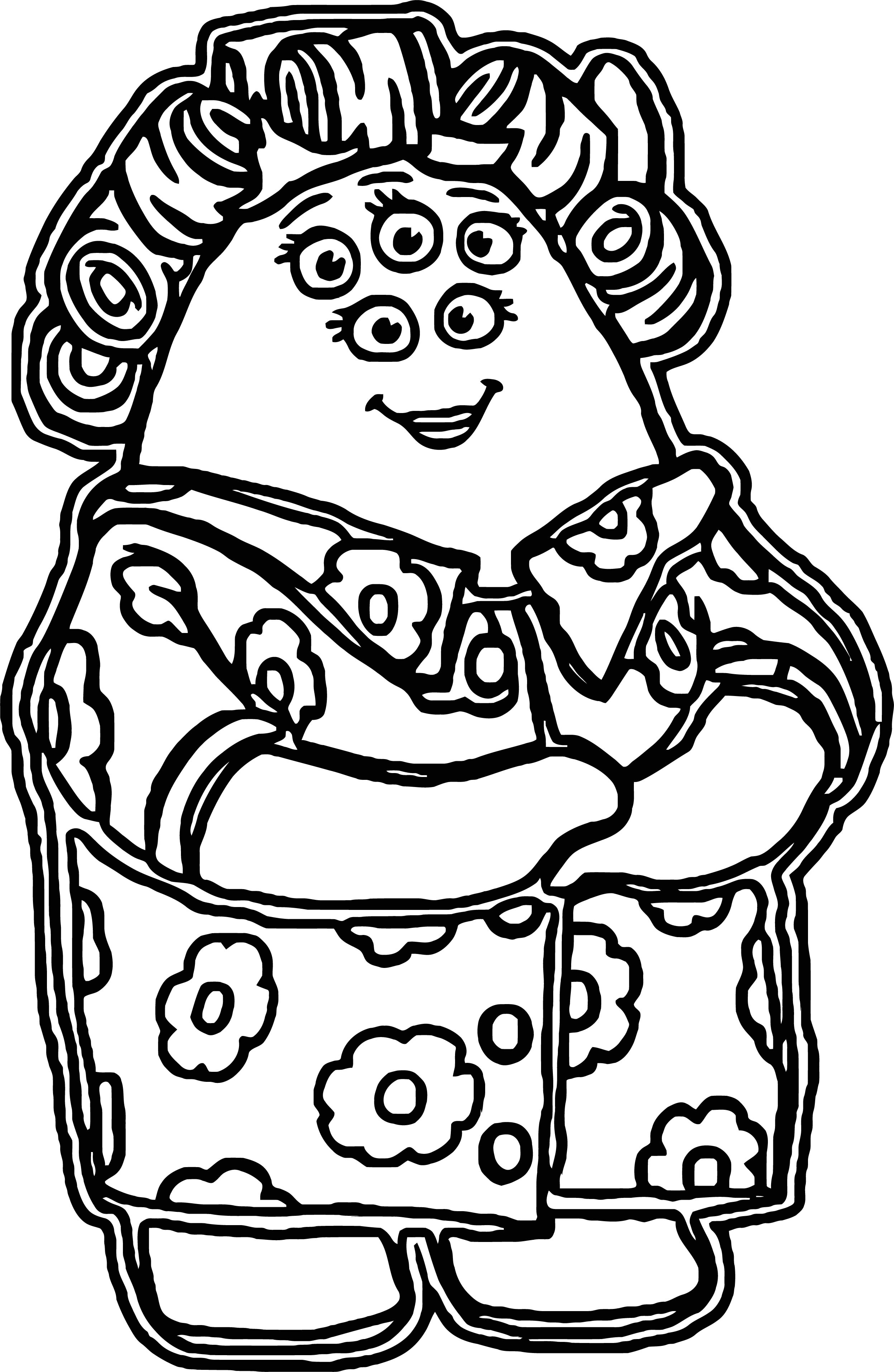 Mrs Squibbles Coloring Page