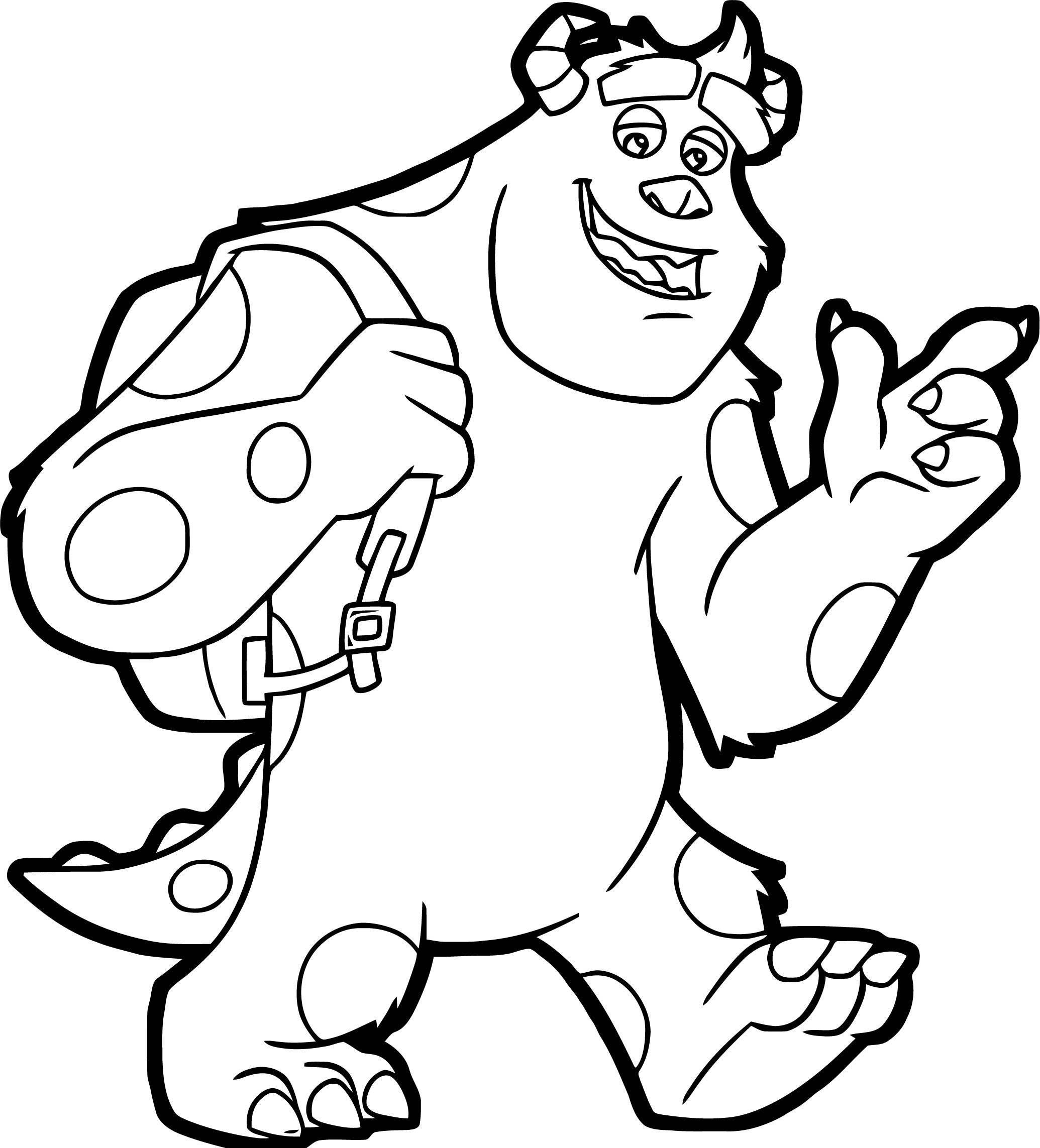 Mu Walking Coloring Page