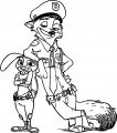 Nick Wilde Bunny Coloring Page