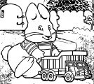 O Max And Ruby Toy Truck Coloring Page