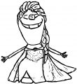 Olaf As Elsa Coloring Page