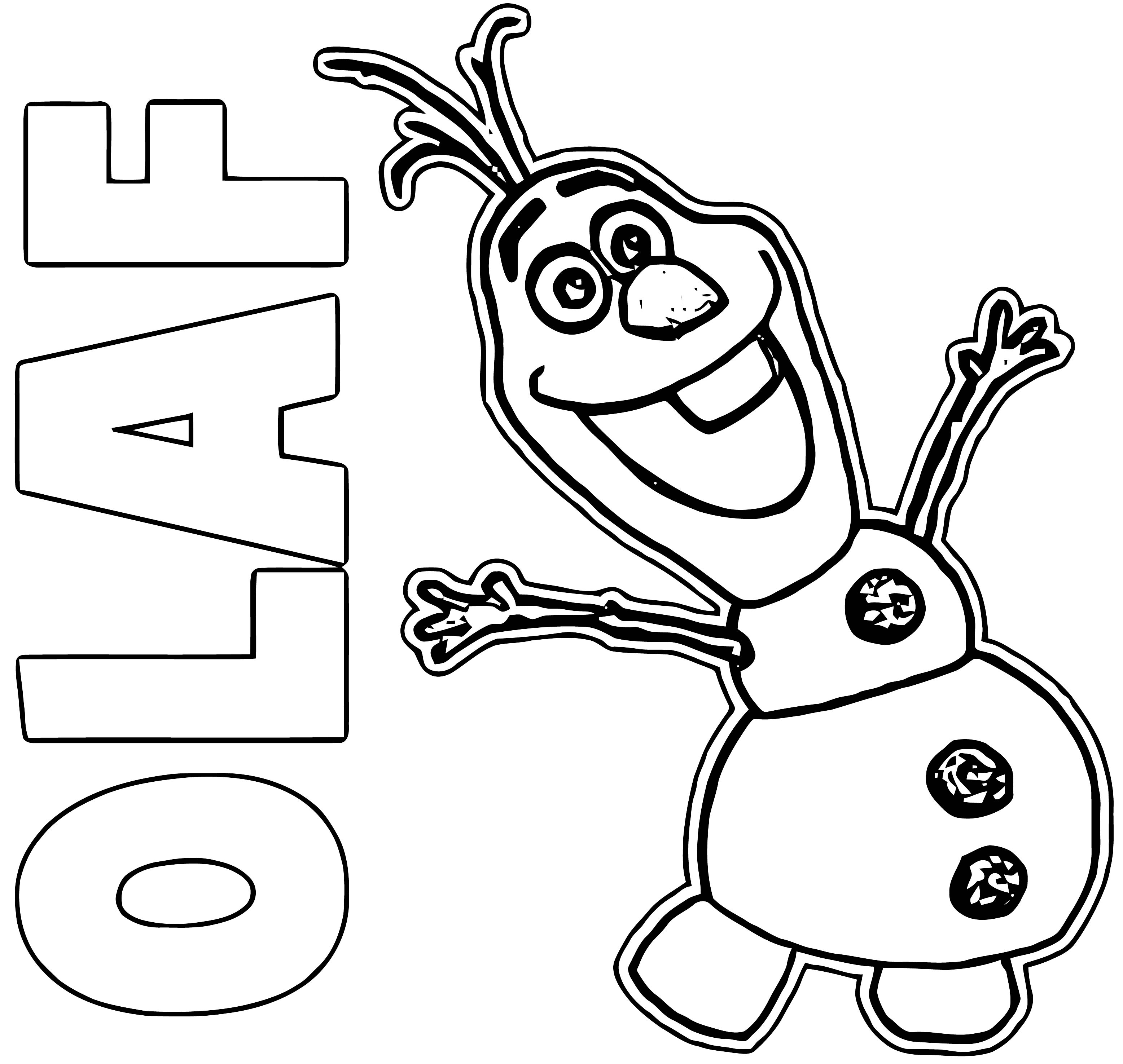 Olaf Coloring Page WeColoringPage 09