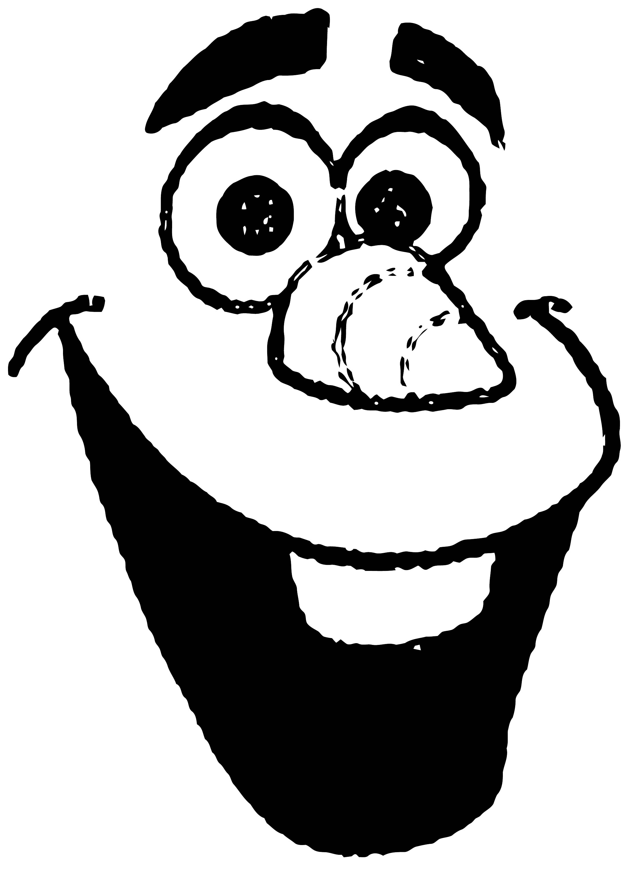 Olaf Face Template Coloring Page Wecoloringpage Com