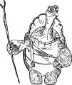 Oogway White Turtle Coloring Page