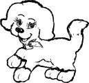 Orange Cute Puppy Cartoon Puppy Dog Coloring Page