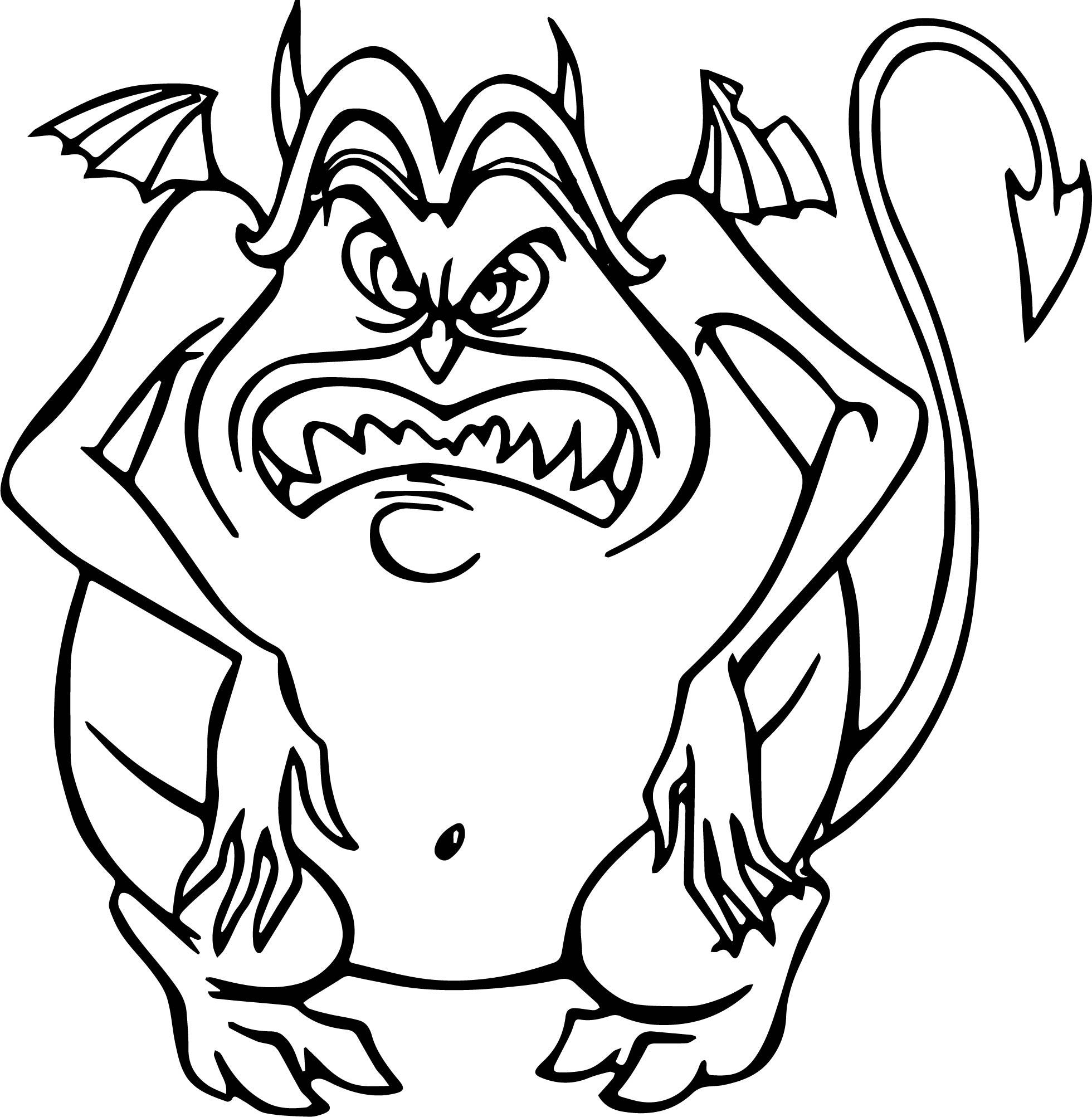 Pain Hercules Devil Coloring Pages