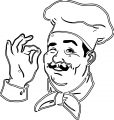 Painter Chef Coloring Page