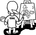 Painter Girl Rtfm Coloring Page