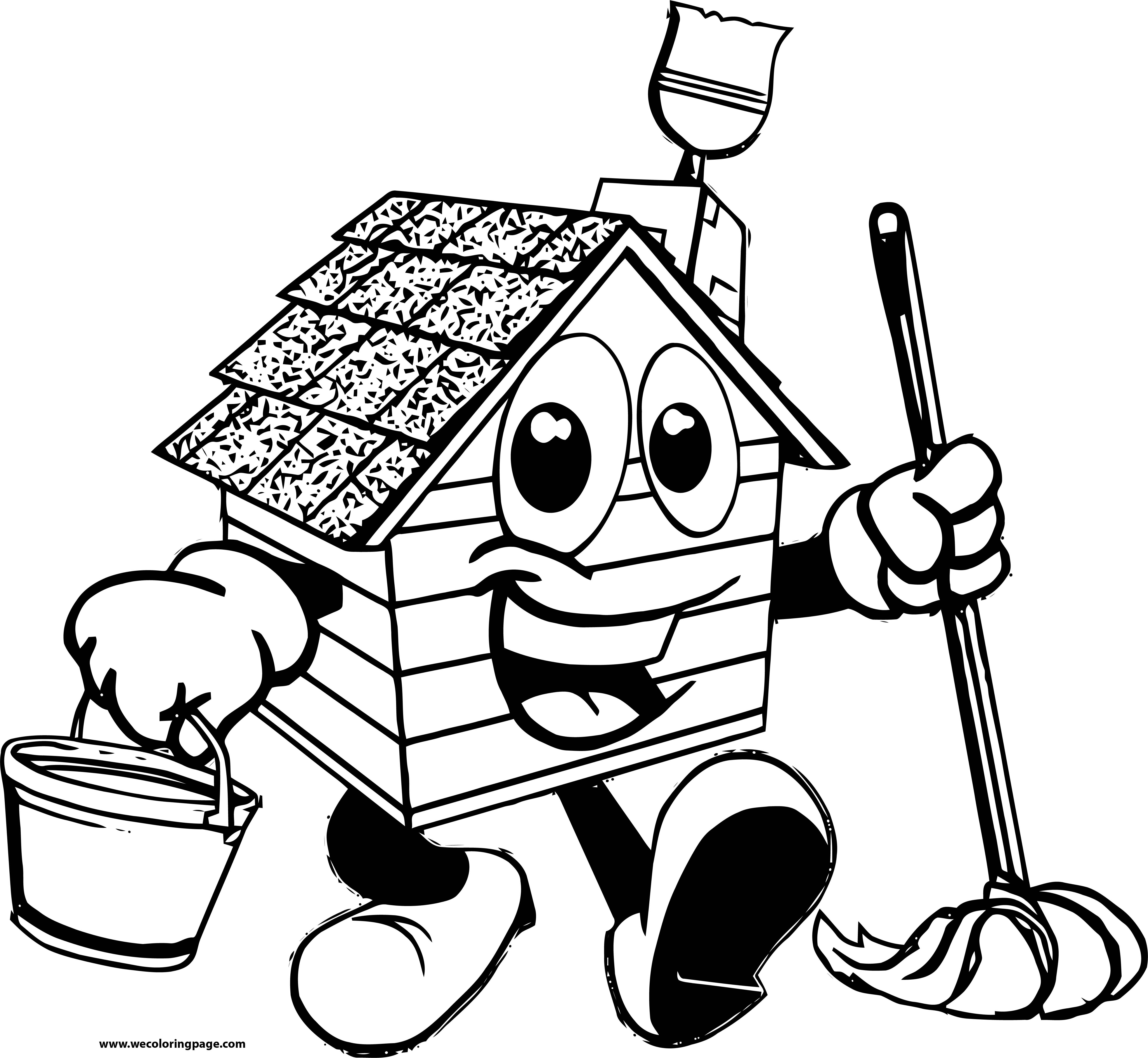 Painter House Coloring Page