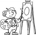 Painter Man Good Picture Coloring Page