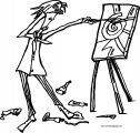 Painter Man I Can Not See Coloring Page