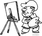 Painter Mexican Man Coloring Page