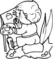 Painter Picture Boy Coloring Page