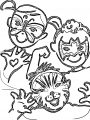 Painter Sketch Kids Face Coloring Page