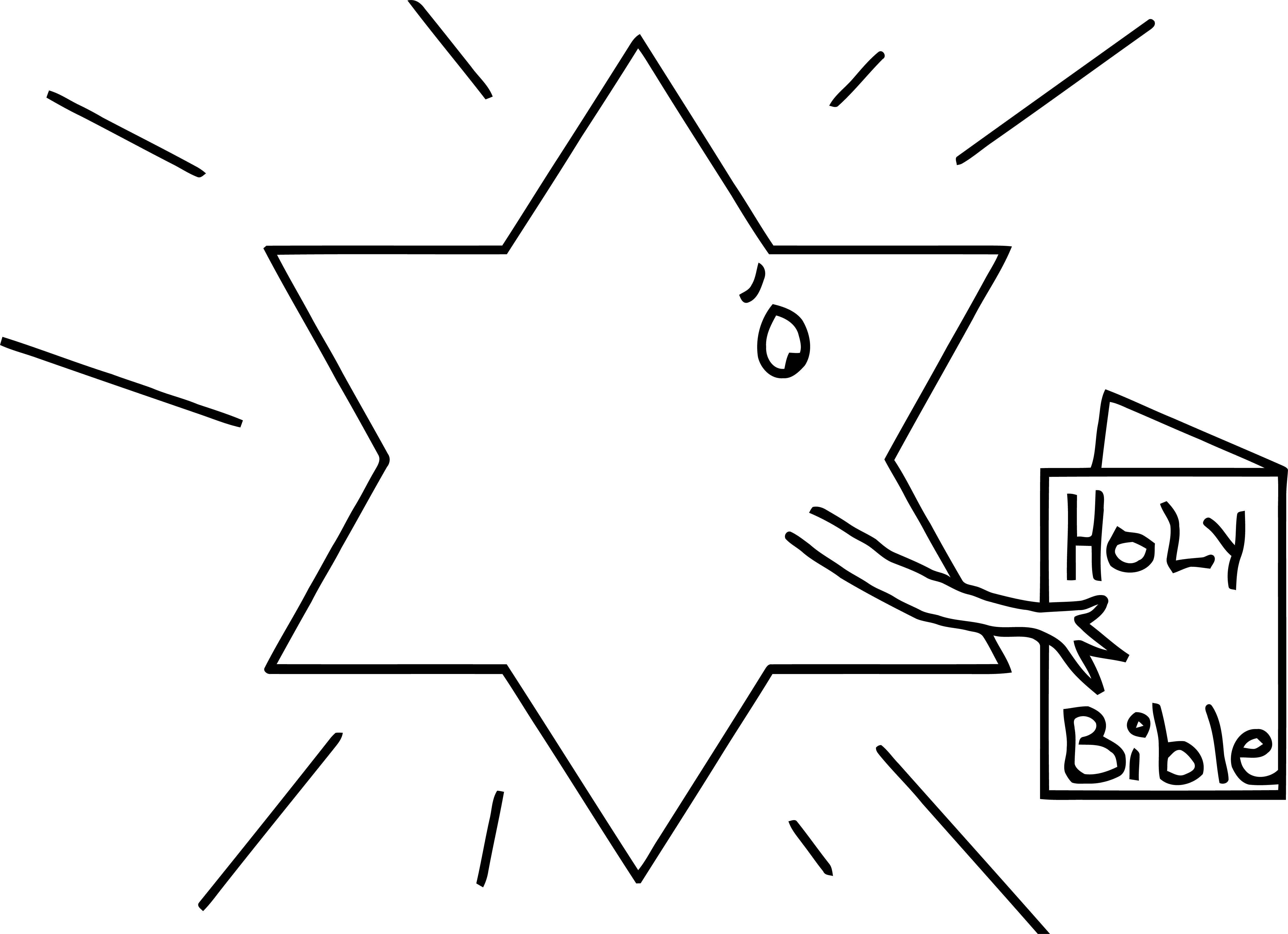 Painter Star Holy Bible Coloring Page