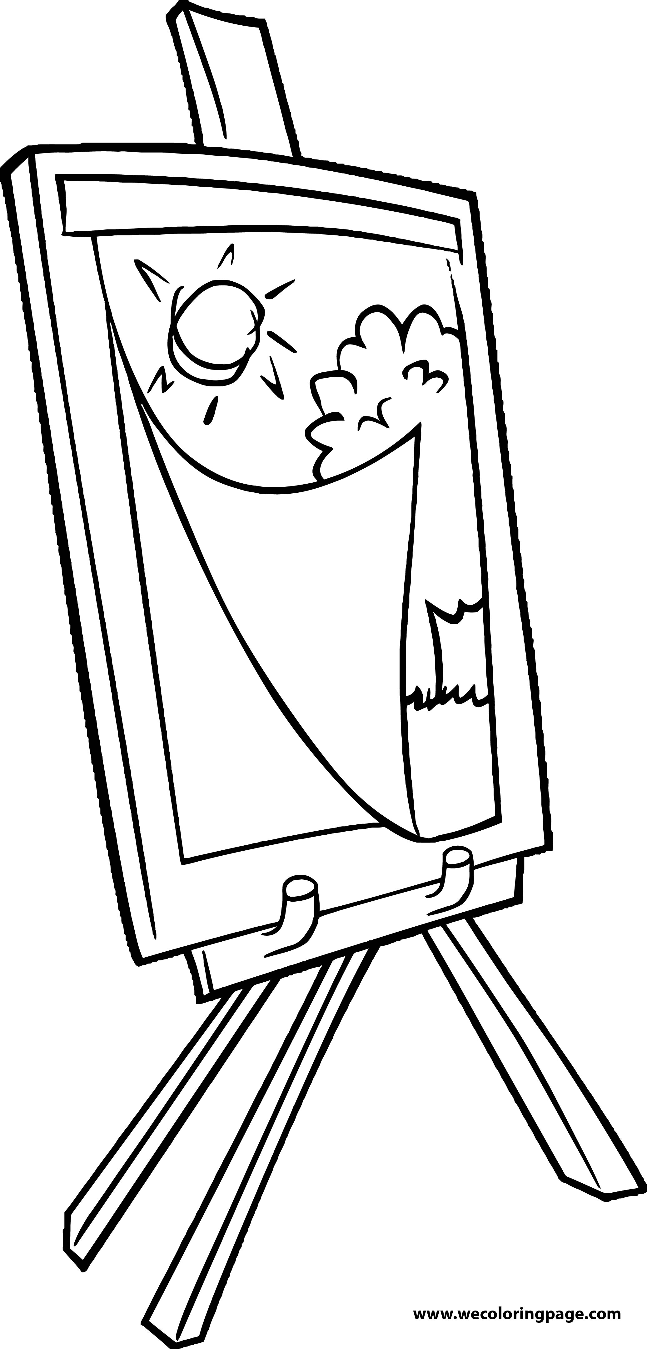 Painter Table Beautiful Day Coloring Page