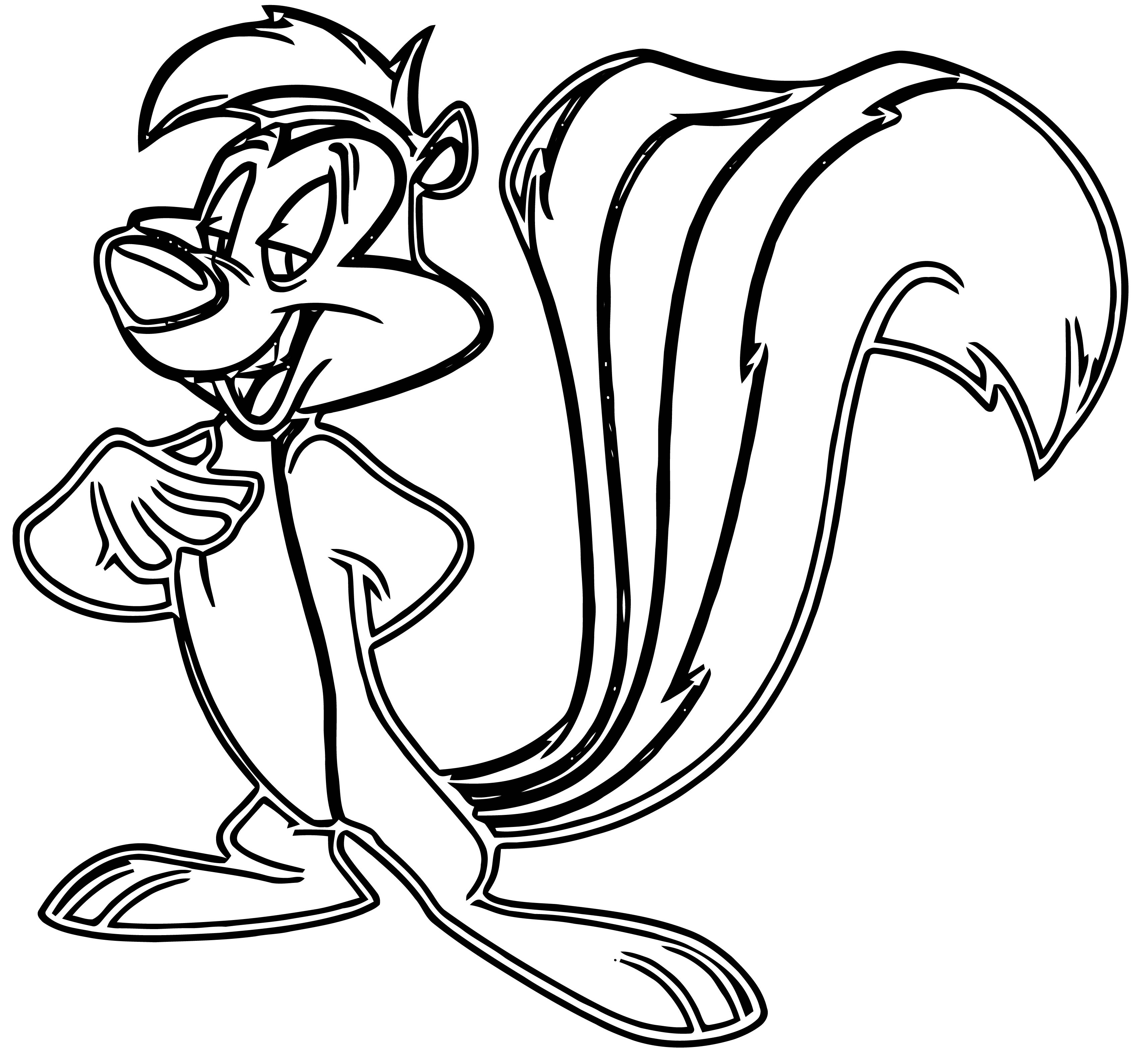 coloring pages of pepe le pew | Pepe Le Pew The Looney Tunes Show The Looney Tunes Show ...