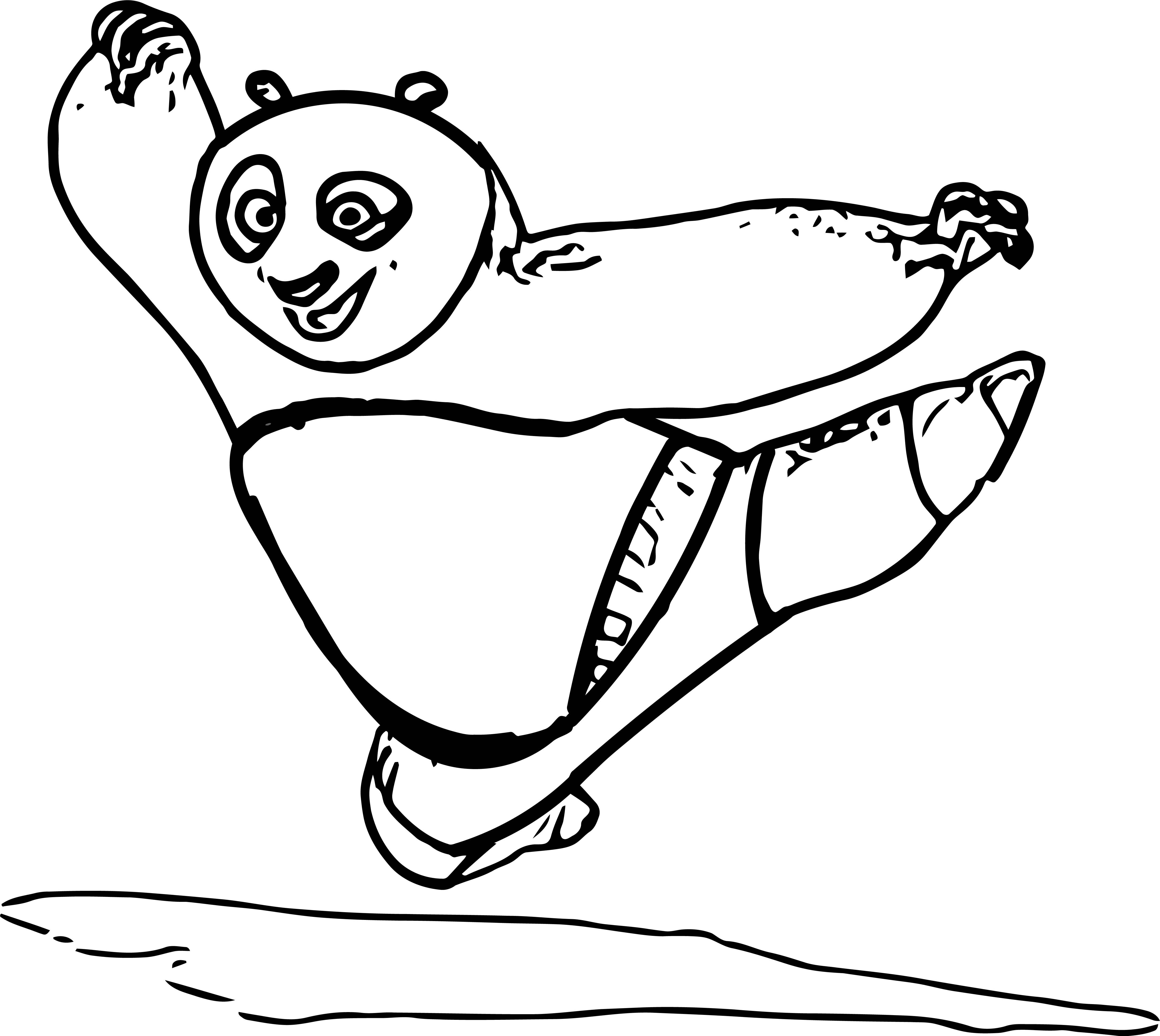 Po Kung Fu Panda Coloring Page