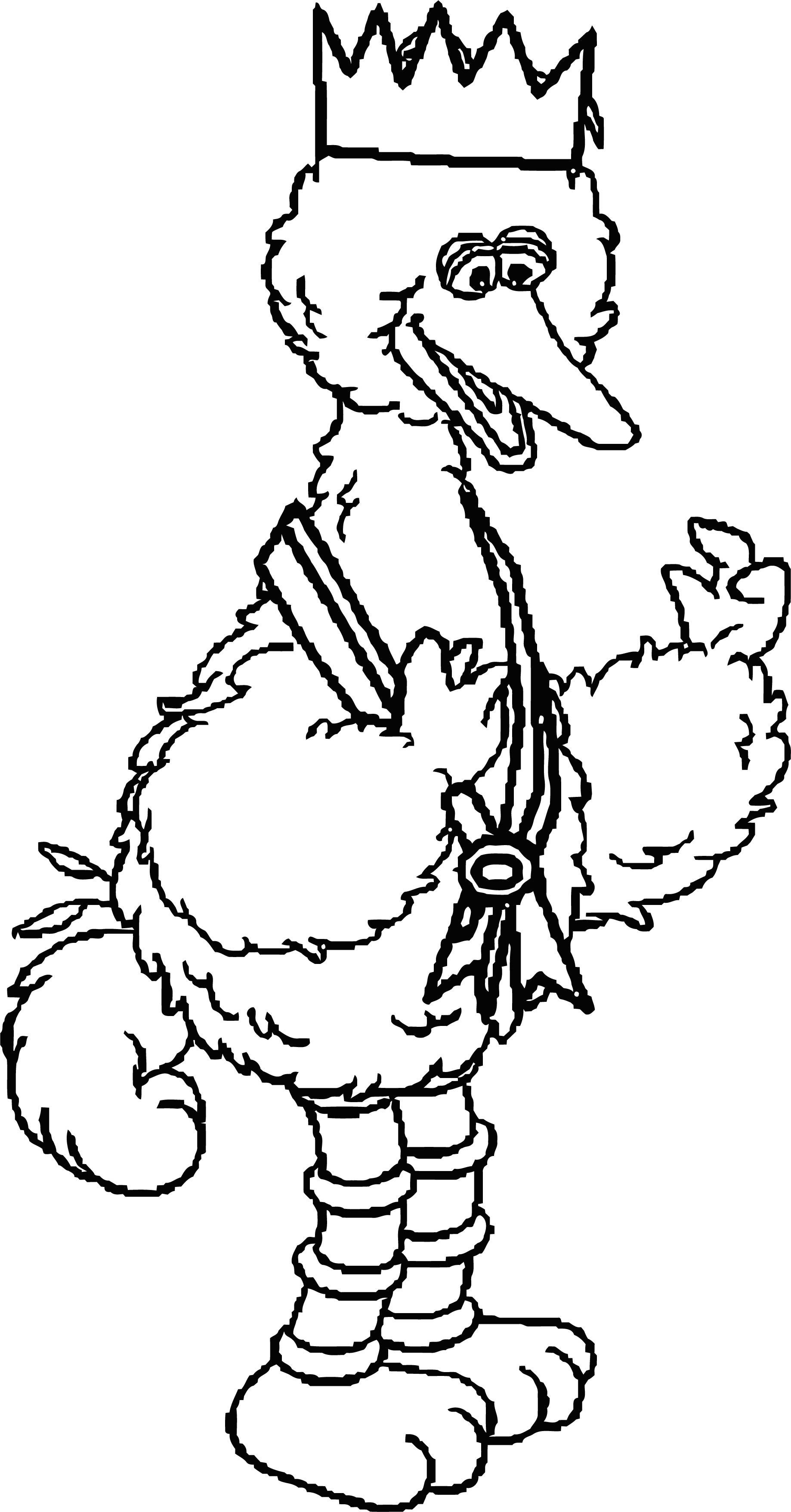 Prince Big Bird Sesame Street Sesame Street Coloring Page