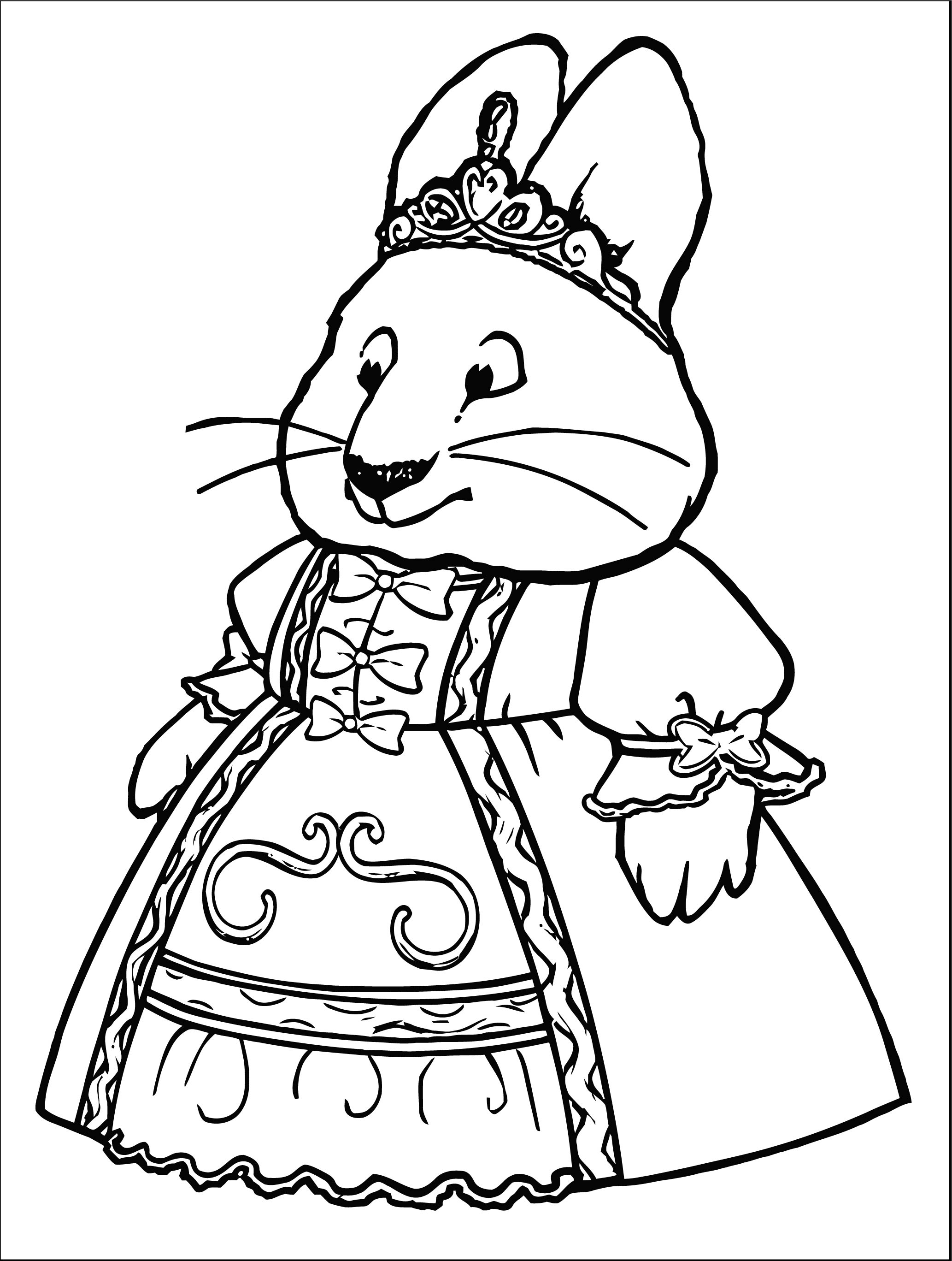 Princess Ruby Max And Ruby Max And Ruby Coloring Page