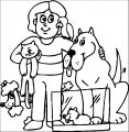 Puppy Dog Cat Family Coloring Page