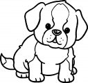 Puppy Dog Look Coloring Page