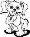 Puppy Dog Sketch Coloring Page