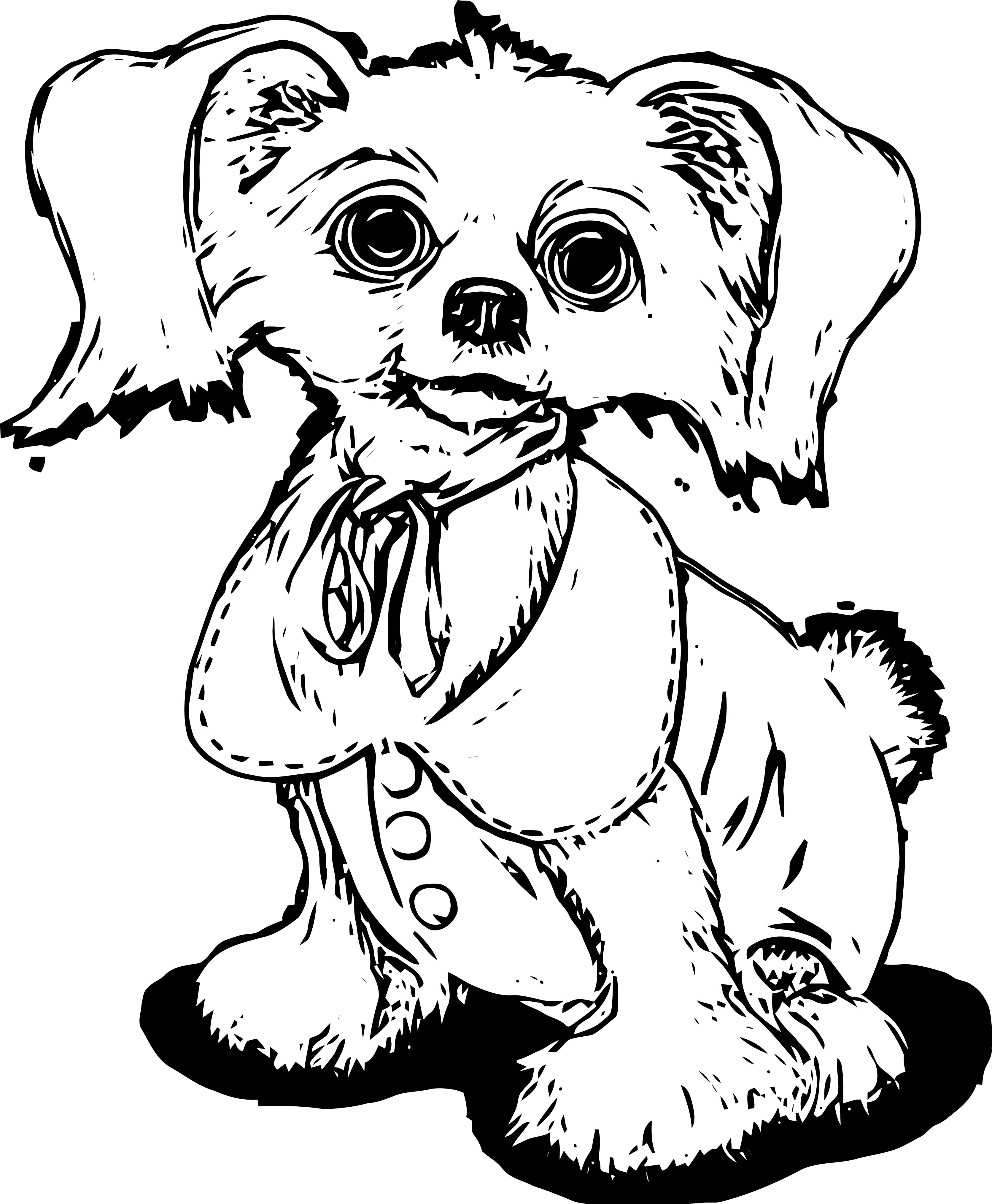 Puppy Dog Sketch Coloring Page