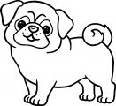 Puppy Dog Small Fat Coloring Page