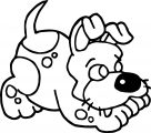 Puppy Dog Wait Please Coloring Page