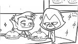 Raven & Beast Boy Coloring Page