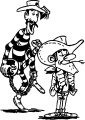 Retail Stores Lucky Luke Dalton Brother Coloring Page