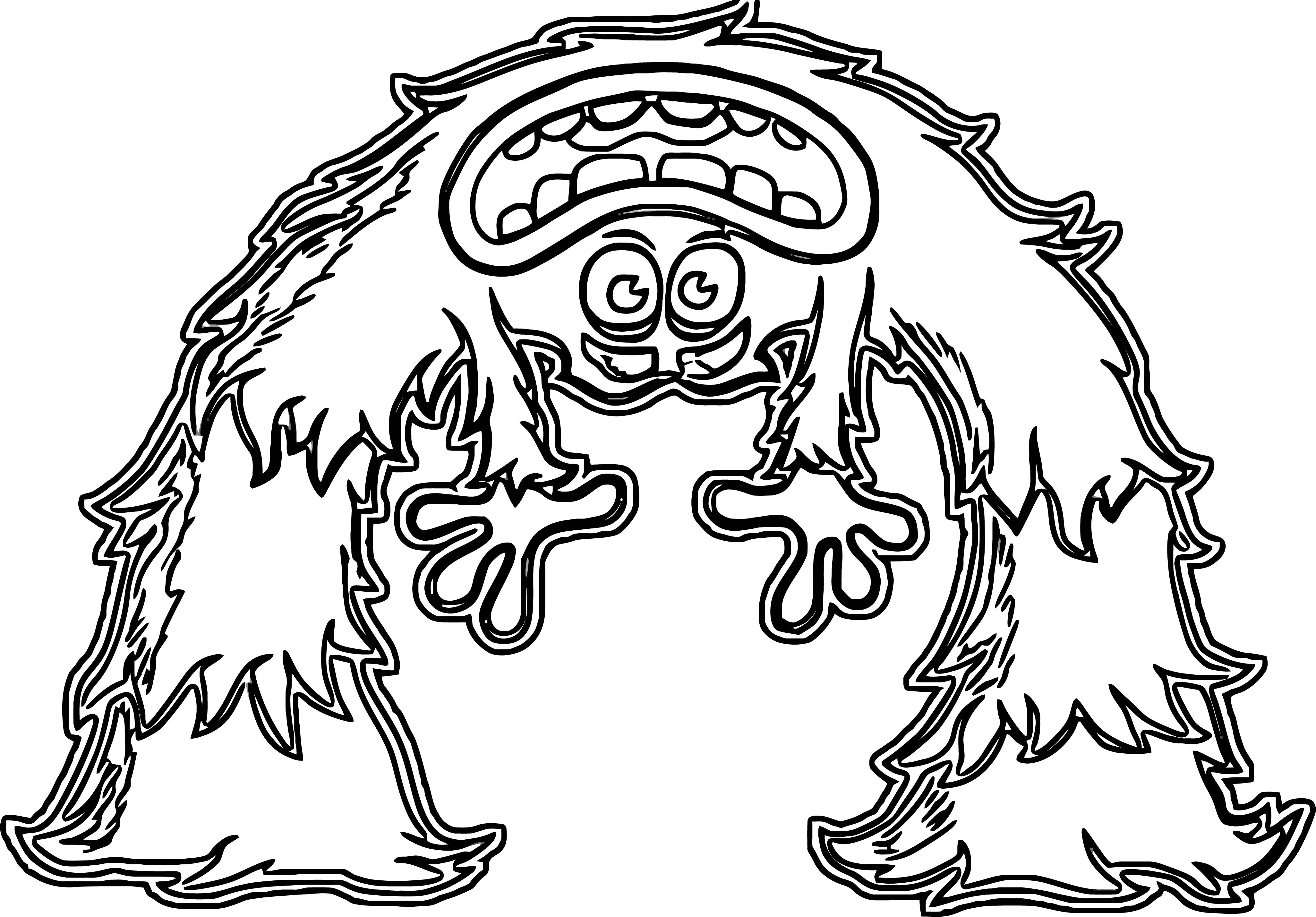 Reverse Monster Art Coloring Page