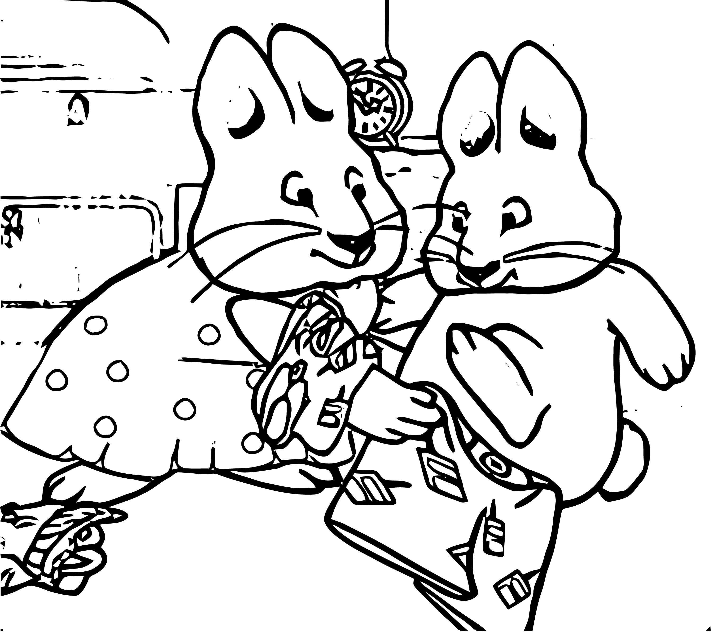 Ruby Undressing Max Max And Ruby Coloring Page