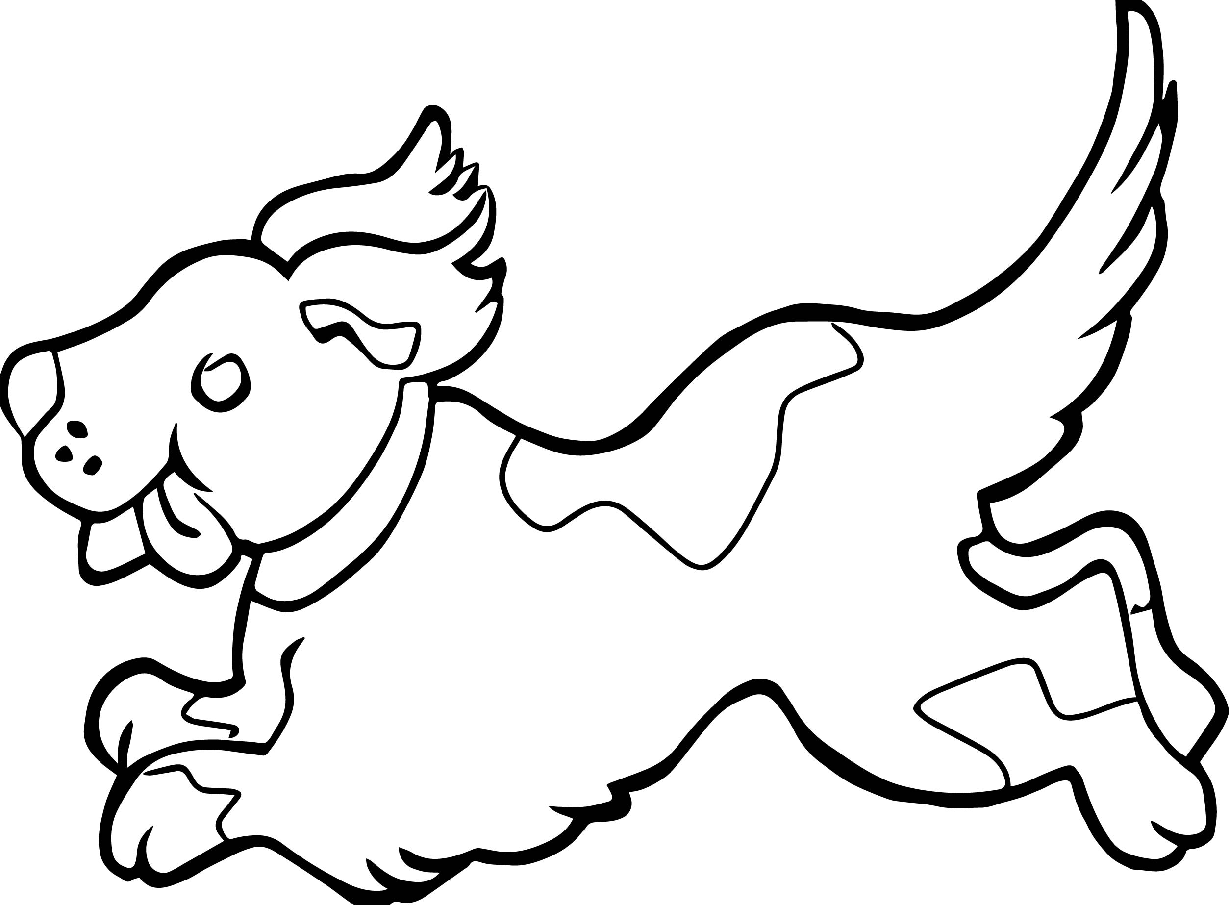 Running Puppy Dog Coloring Page | Wecoloringpage.com