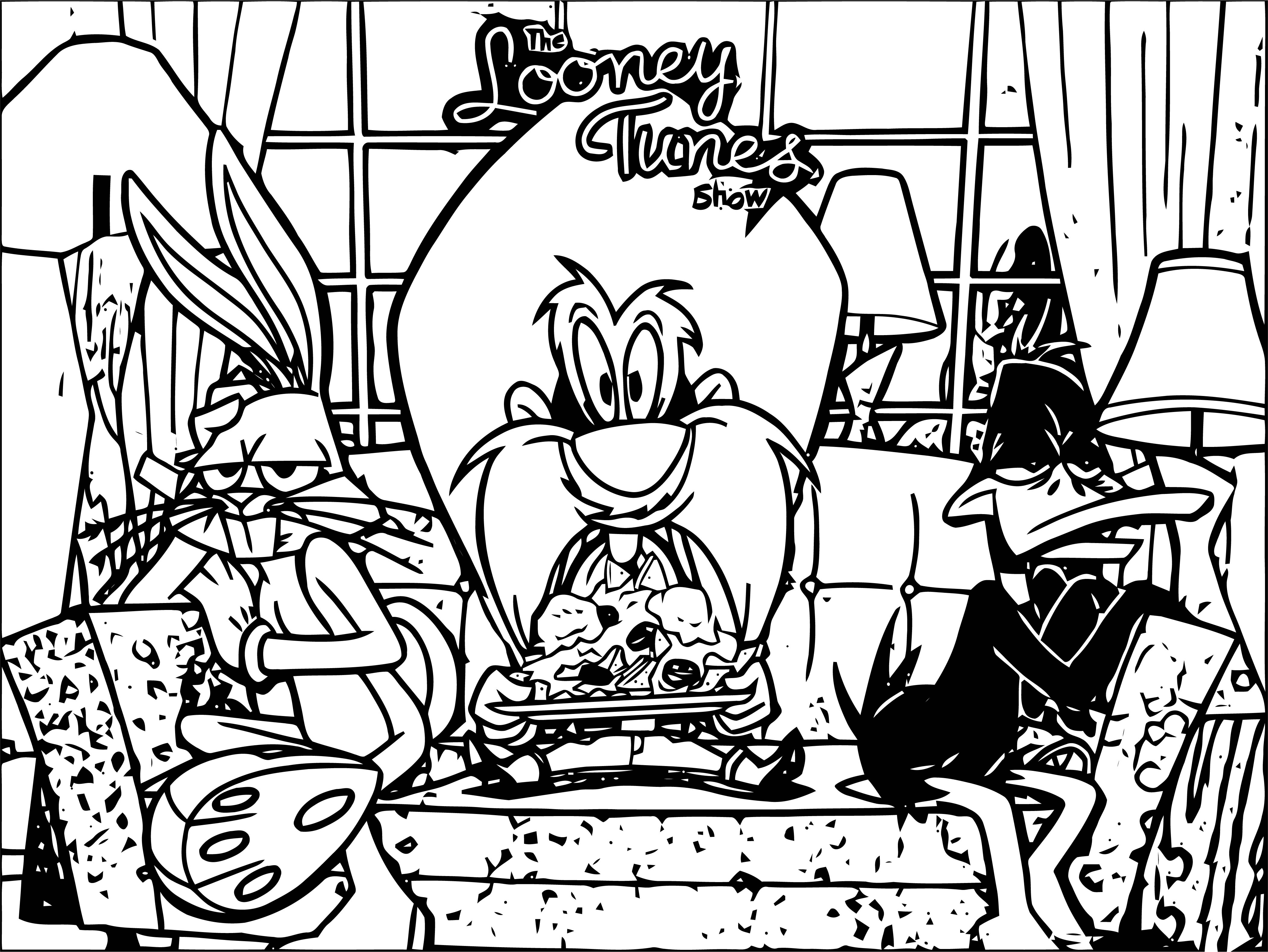 Sam1 Looney Tunes The Looney Tunes Show Coloring Page