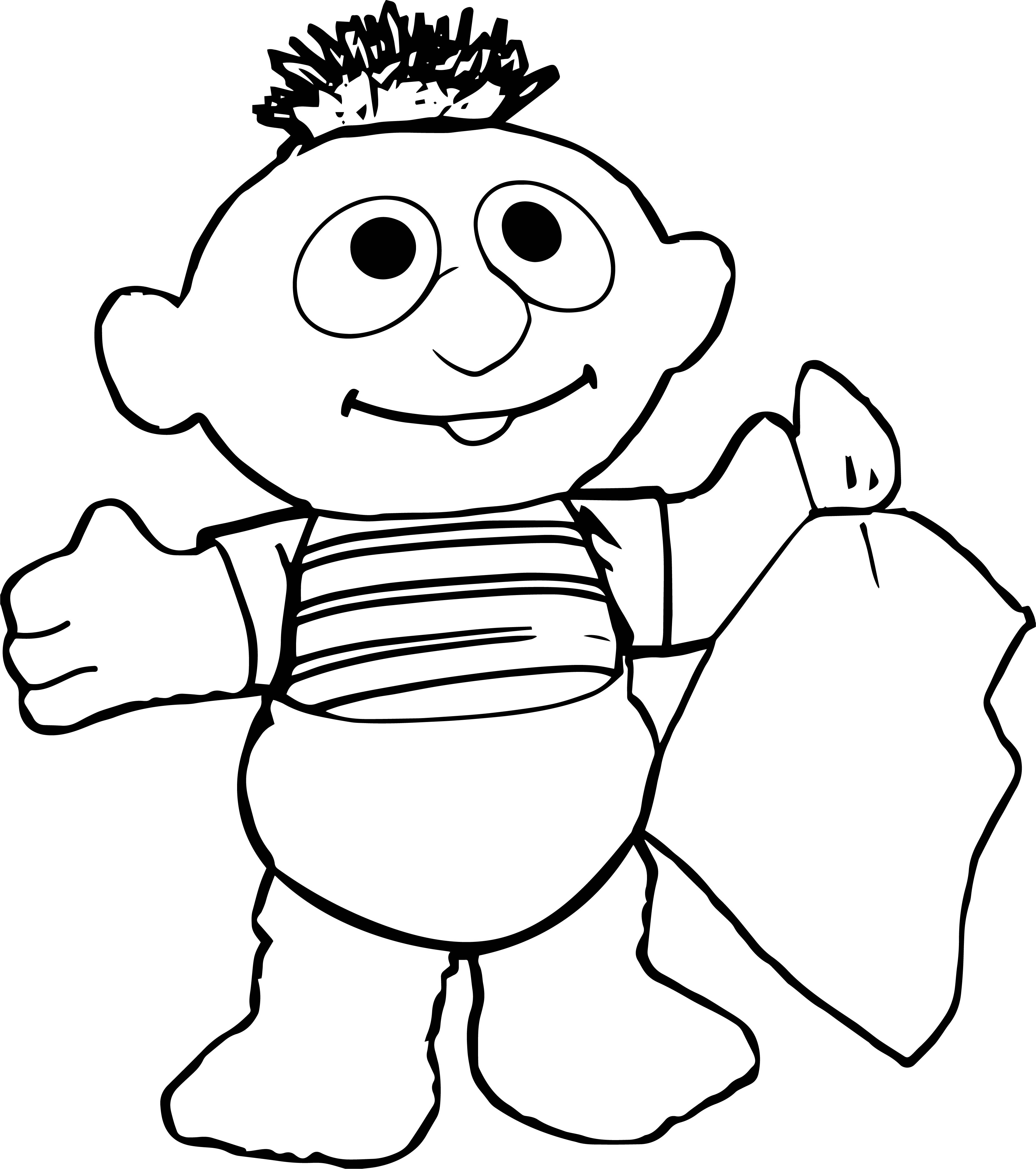 Baby sesame street coloring pages ~ Sesame Street Baby Coloring Page | Wecoloringpage.com