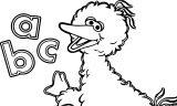 Sesame Street Big Bird Letters Book Sesame Street Coloring Page