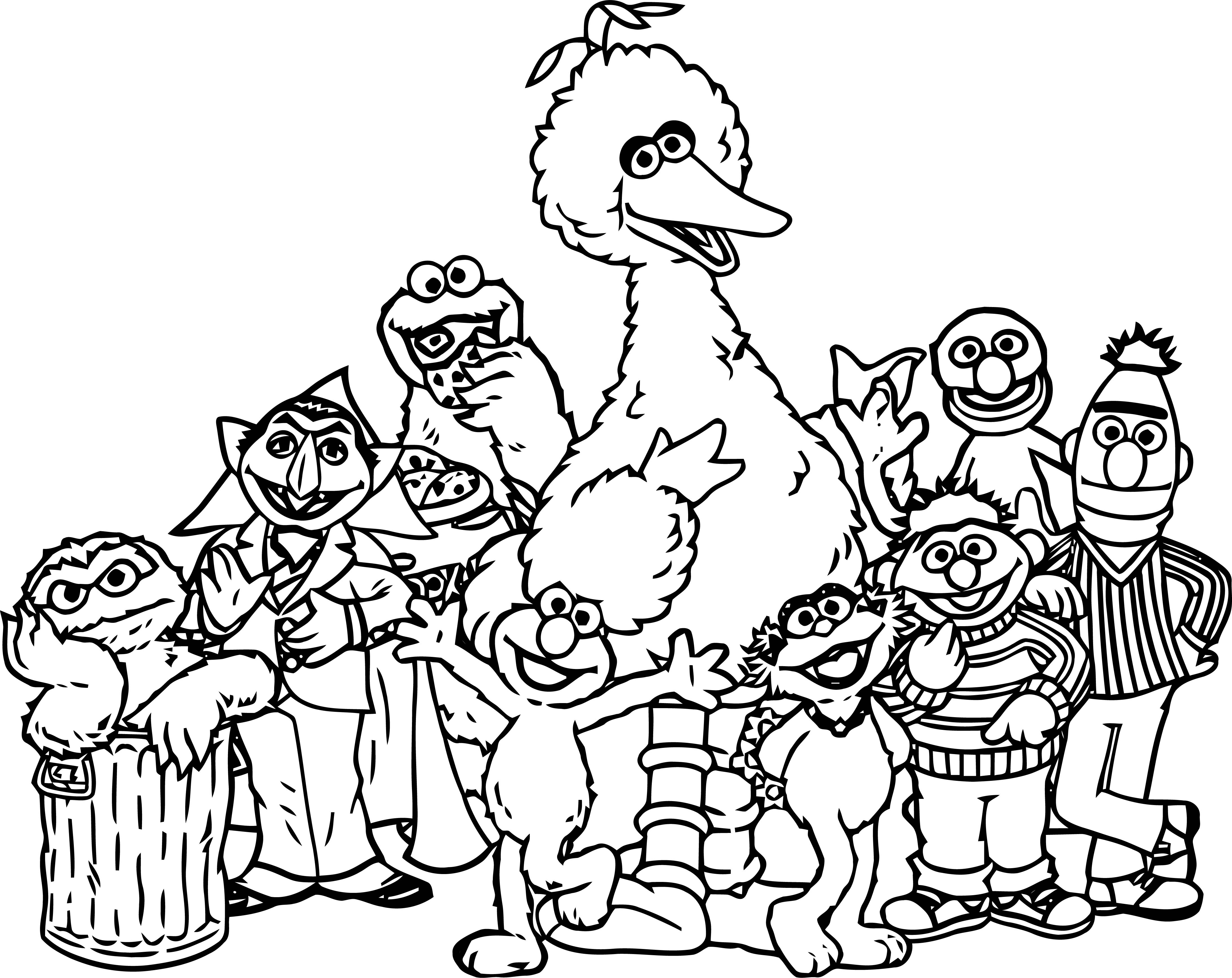 Sesame Street Characters Sesame Street Coloring Page
