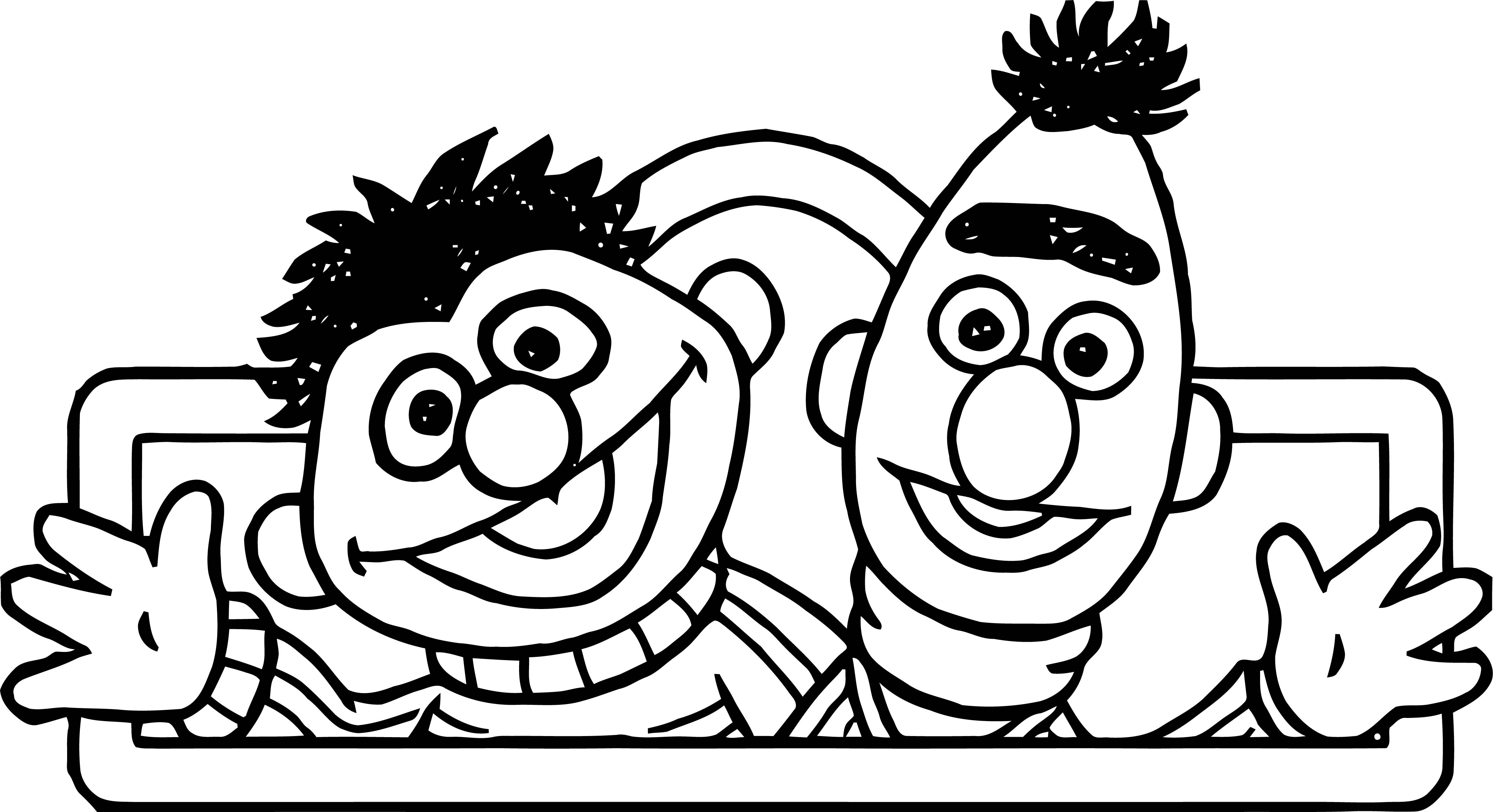 Sesame Street Hello Coloring Page