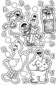 Sesame Street Letter Coloring Page