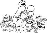 Sesame Street Open Coloring Page
