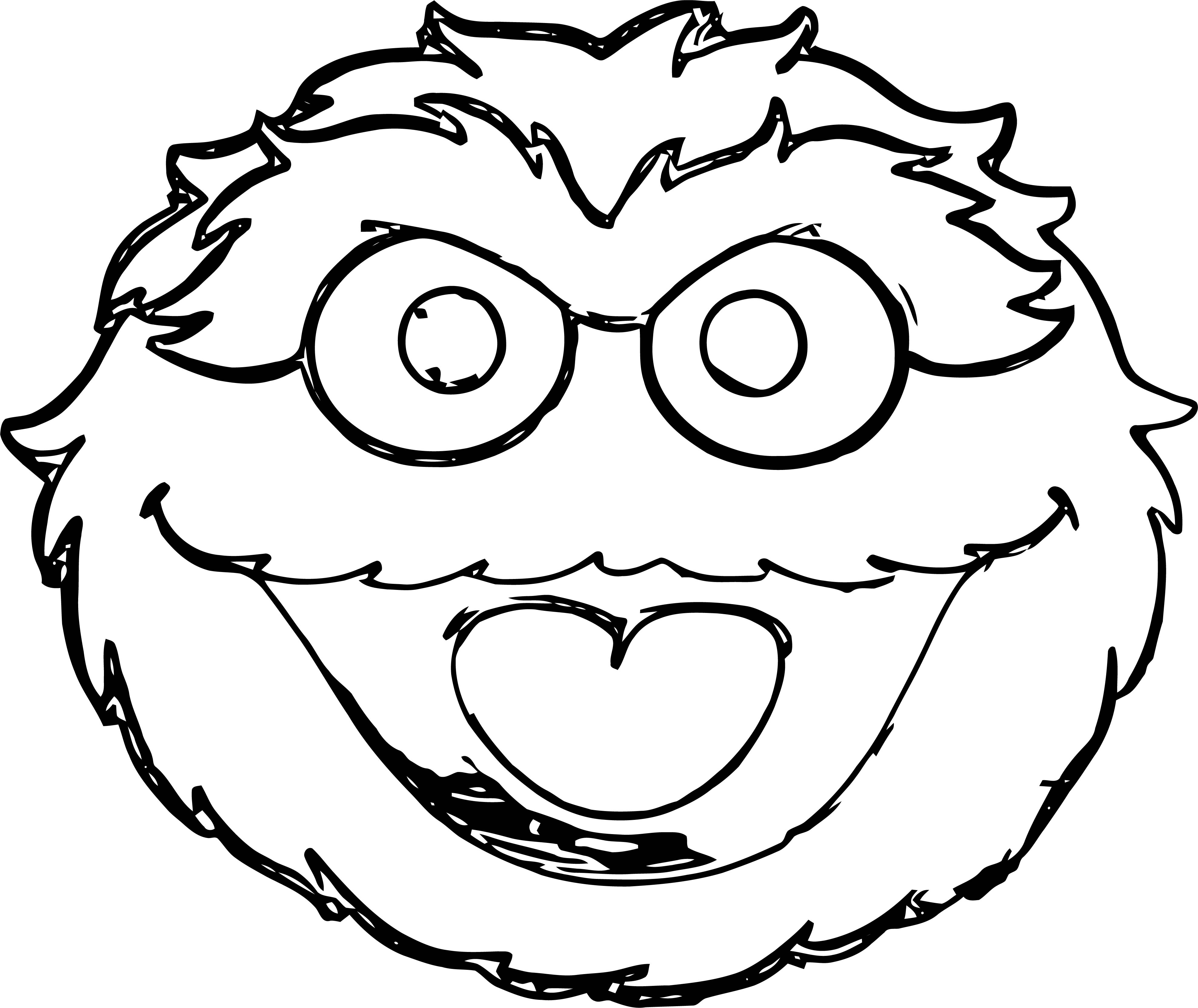 Sesame Street Oscar The Grouch Buckle Face Sesame Street Coloring Page