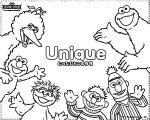 Sesame Street Unique Coloring Page
