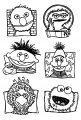 Sesamestreet Faves All Characters Sesame Street Coloring Page