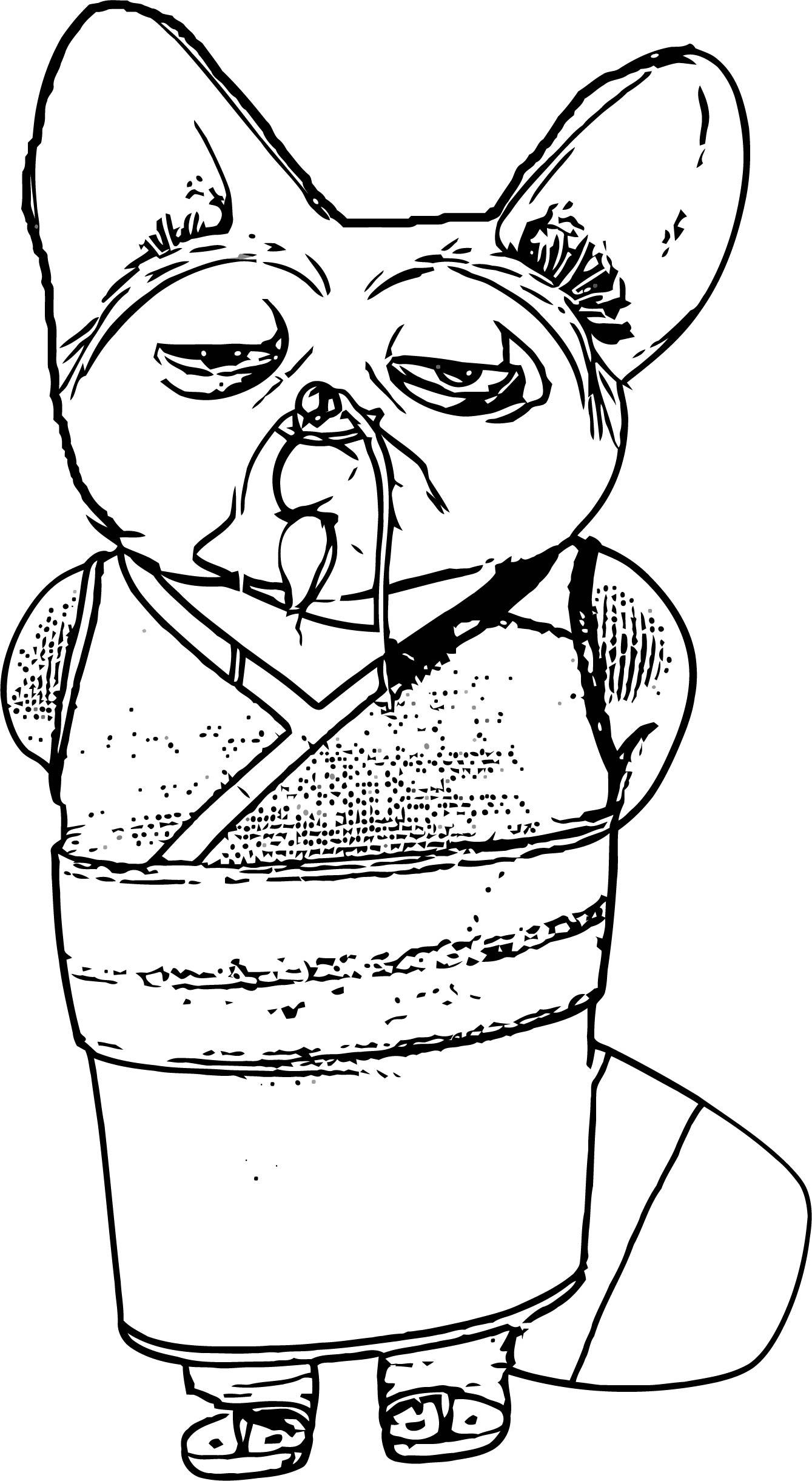 Shifu Loa Coloring Page