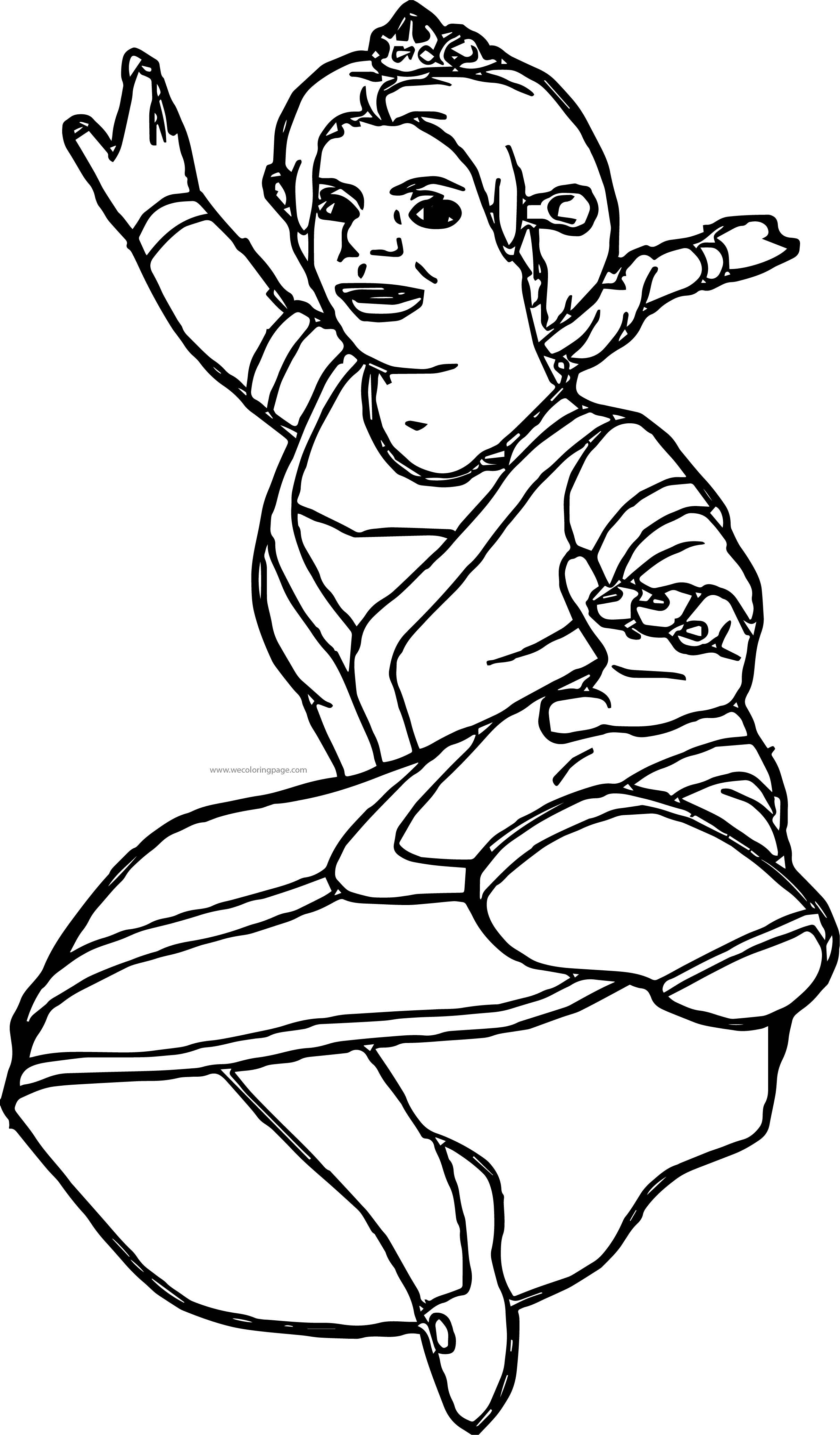 Shrek Girl Kick Coloring Page